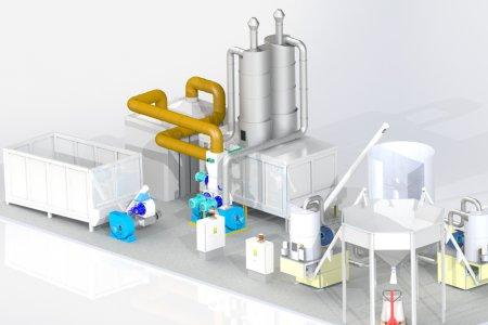 Linee modulari di produzione fino a 3 ton/h di pellet